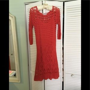 Crochet tea length dress